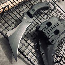 Karambit cuchillo táctico para caza al aire libre cuchillo de hoja fija de supervivencia, cuchillo de combate de la jungla, cuchillos de Camping EDC, herramienta de mano