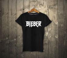 Justin BIEBER T-shirt 100% Cotton JB T-shirt Unisex Tee Chirstmas Gift JN FANS Men 2017 Summer Round Neck Men'S T Shirt jn 041205jn