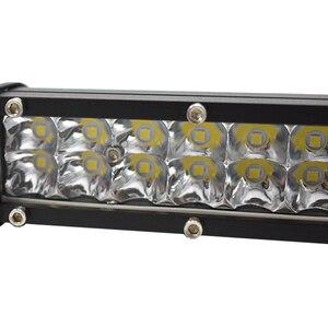 Image 4 - 1個ecahayaku 7インチ超スリムデュアル行ledライトバー60ワット6000 18k 12用ジープ/ハマー車suv uteピックアップトラック4 × 4オフロード