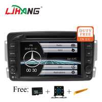 LJHANG 7 дюймов 2 DIN Автомобильный мультимедийный плеер для Mercedes Benz CLK W209 W203 W168 W208 W463 W170 Vaneo Viano dvd плеер