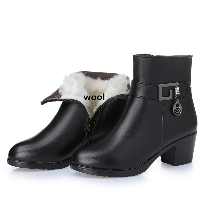 2016 new winter thick wool lined genuine leather