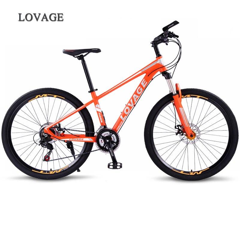 LOVAGE vélo VTT 21 vitesses 27.5 pouces roues double frein à disque cadre en aluminium vélo frein hydraulique vélo de route