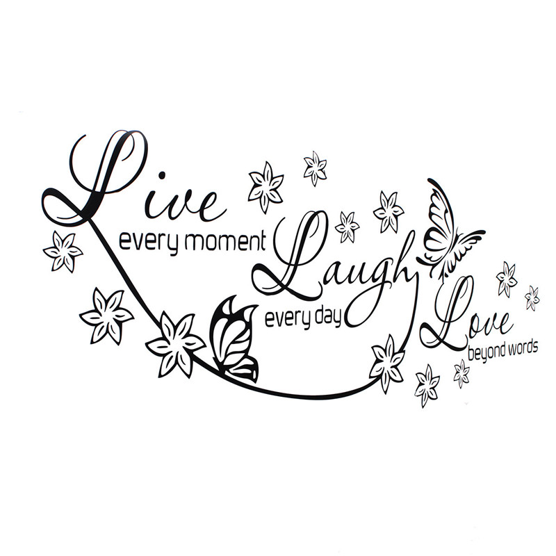 Compare prices on stencil wallpaper online shopping buy for Live laugh love wall art
