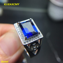 KJJEAXCMY fine jewelry 925 silver inlay natural Tanzanite color Topaz Ladies Ring Jewelry tbj romantic small ring with natural good color blue tanzanite gemstone girl ring in 925 sterling silver fine jewelry for women