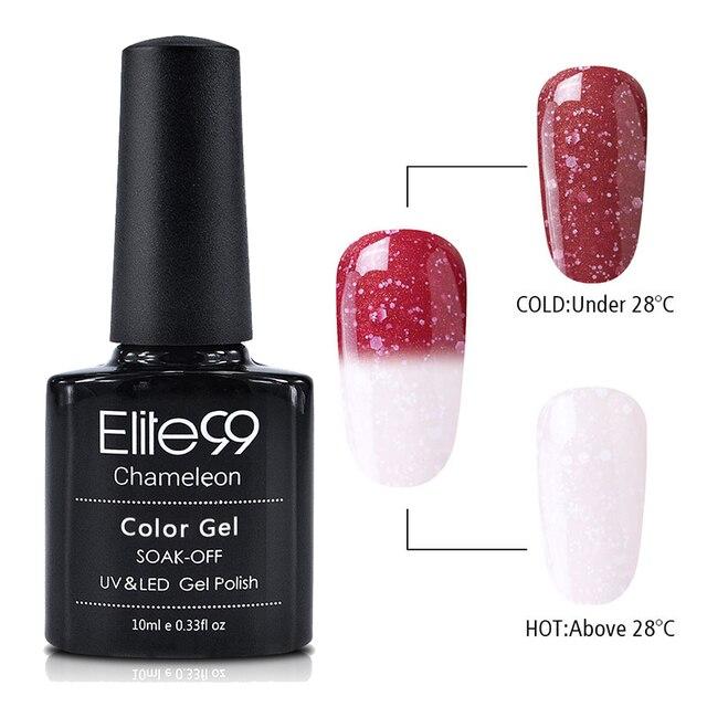 Elite99 10 ml Snowy Thermische Chameleon Gel Temperatur Ändern Farbe Gel Polnischen DIY Nail art Stimmung Farbe Ändern UV Gel lack