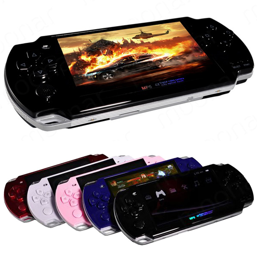 FKISSME Built-in 5000 Support AV Out 8GB 4.3 Inch PMP Handheld Game Player MP3 MP4