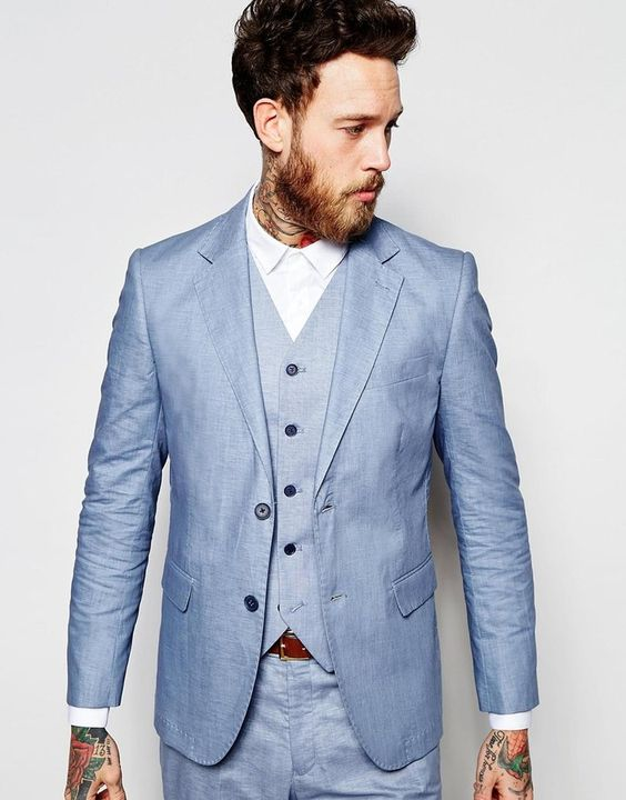 Light Blue Tuxedos Promotion-Shop for Promotional Light Blue ...