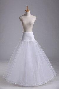 Image 3 - Trouwjurken hoepelrokrok lycra taille jupon tulle mariage wit wedding onderrok drukte crinoline WAS10040