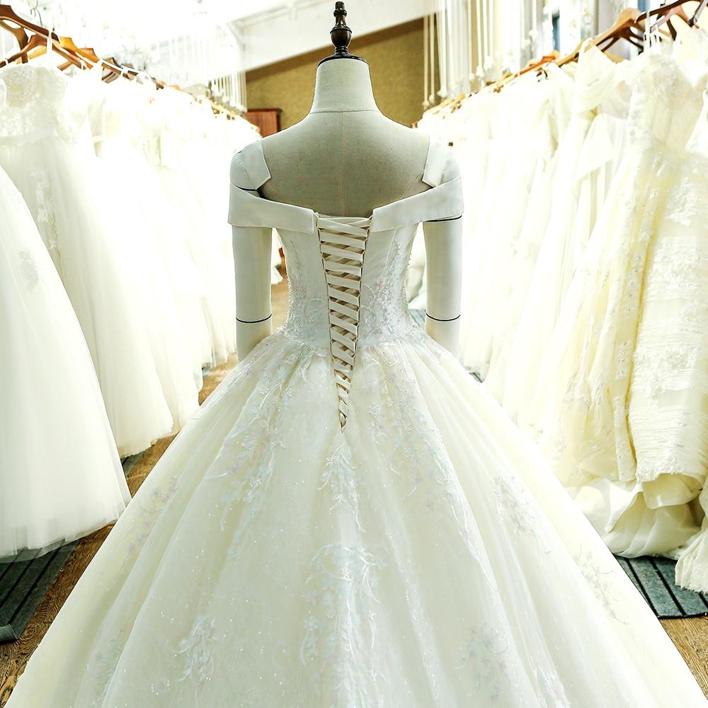 SL-130 skräddarsydd snörning klänning klänning brudklänning - Bröllopsklänningar - Foto 5