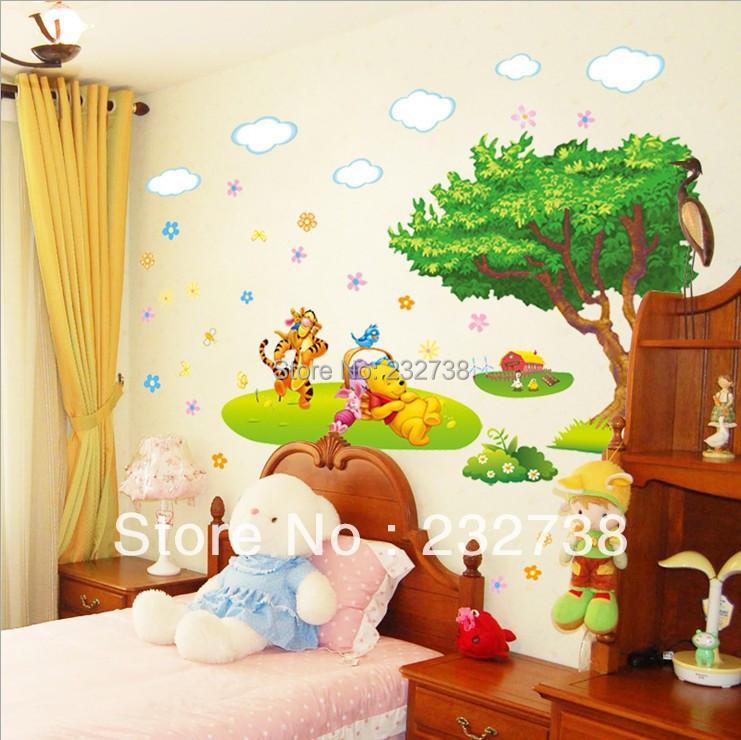 3D Wall Sticker Cartoon Animal Kids Room Wall Stickers Wallpaper For House  Decor PVC Wall Decoration W015 Free Shipping In Wall Stickers From Home U0026  Garden ... Part 72