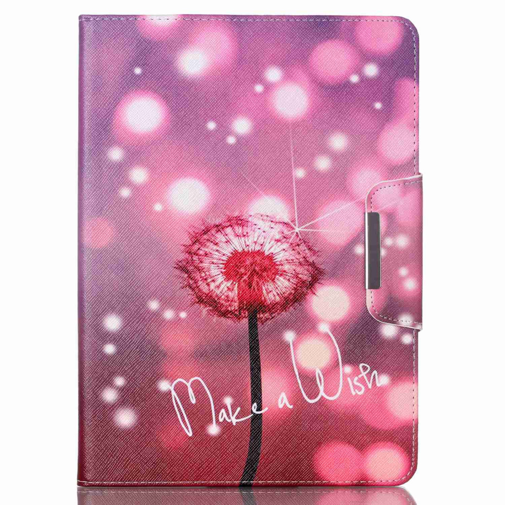 Fashion Pu Leather Cute Cover Case For IPad air 2 Magnetic Cases for ipad 6 Make your Dream Dandelion Pattern