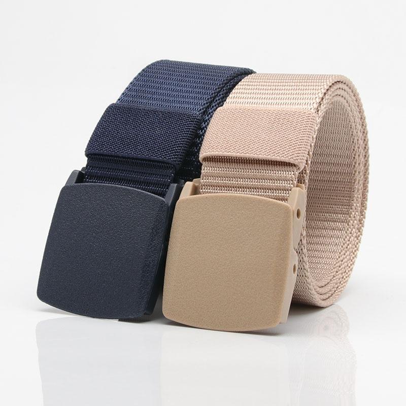 3.8cm Men Female Belts Military Nylon Adjustable Belt Men Outdoor Travel Tactical Waist Belt With Plastic Buckle For Jeans