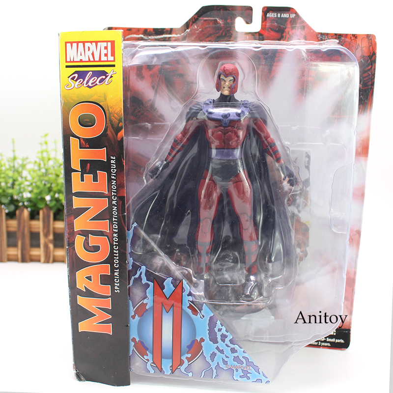 Marvel Select Magneto Doll  PVC Action Figure Collectible Model Toy Friend Gift 18cm marvel iron man mark 43 pvc action figure collectible model toy 7 18cm kt027