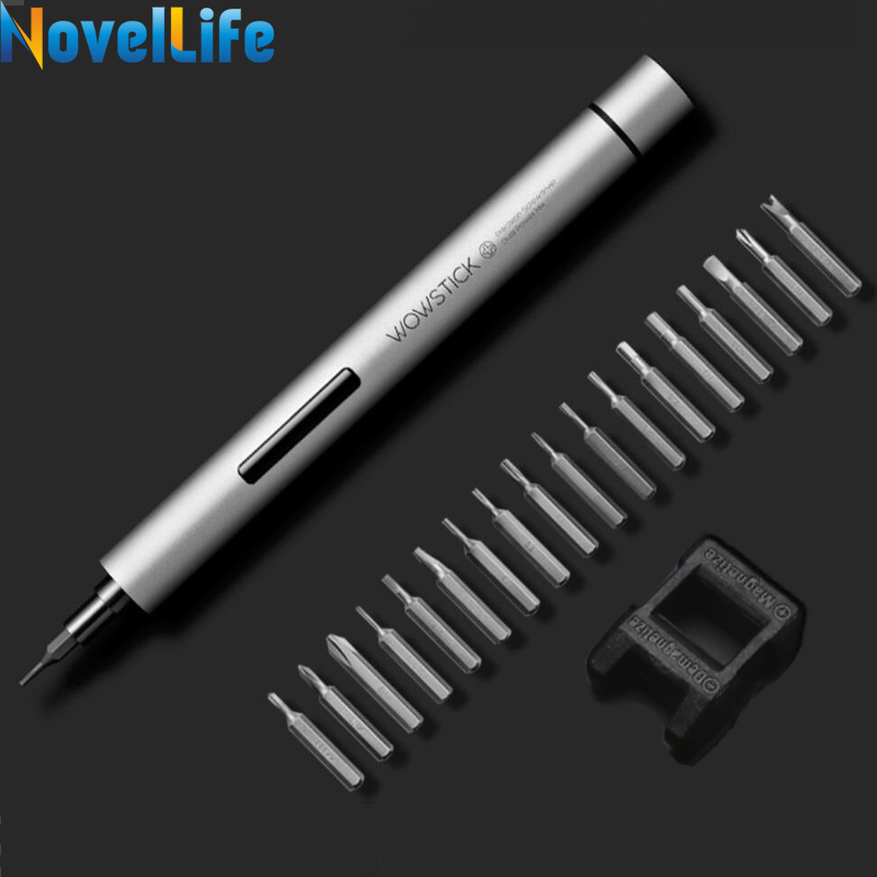 Newest Wowstick 1P Pro Mini <font><b>Cordless</b></font> Electric Power Screwdriver For Phone Xbox RC Toys Camera Precise Repair Tool 1/8 Inch Bits