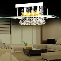 Mini LED 16 Crystal Chandelier Crystal Lustre Modern Pendant Lamp Flush Mount Ceiling Lamp Lights 4Pcs