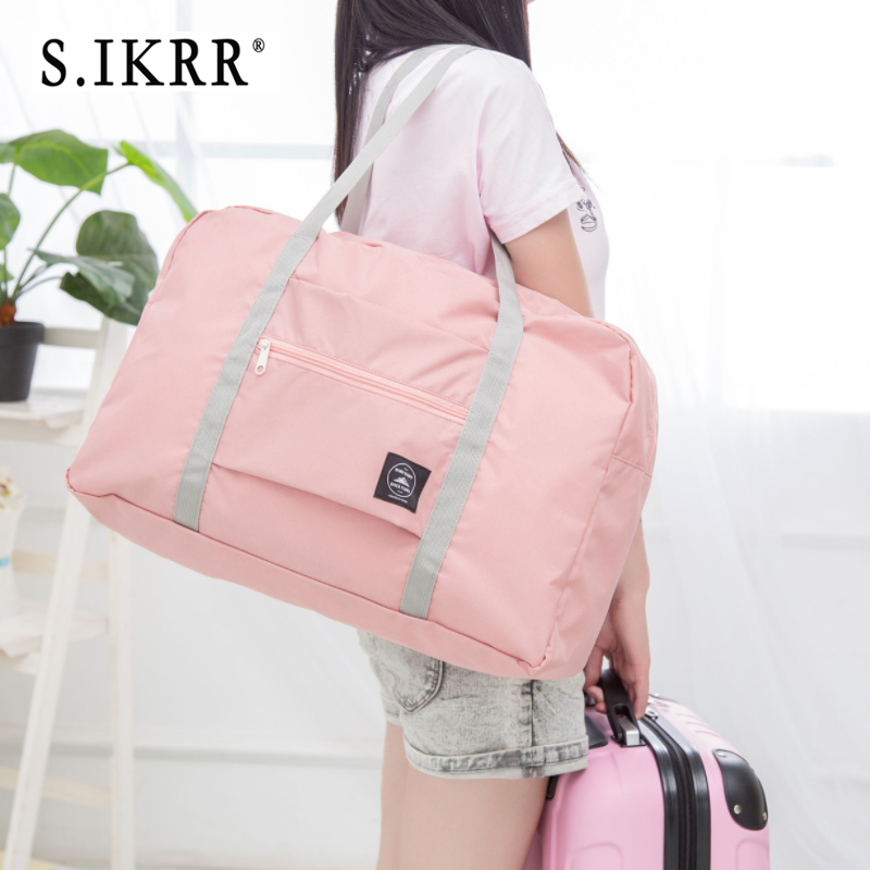 S.IKRR Nylon Waterproof Travel Bag Unisex Foldable Duffle Bag Organizers Large Capacity Packing Cubes Portable Luggage Bags