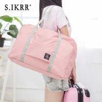 S.IKRR Nylon Waterproof Travel Bag Unisex Foldable Duffle Bag Organizers Large Capacity Packing Cubes Portable Big Luggage Bags