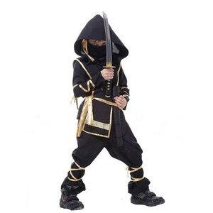 Image 5 - Na urodziny chłopca dzieci Ninja przebranie na karnawał Halloween ponury żniwiarz wojownik dzieci szermierz Party S XXL