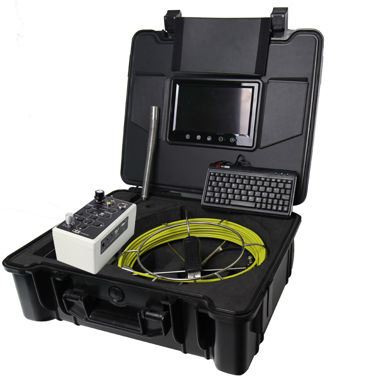 30m Cable Fiber Glass 9''  Waterproof Pipe Sewer Inspection DVR Camera 12Leds 90 degree Endoscope Snake Camera