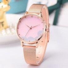 все цены на Women Watches Bracelet Luxury Brand Stainless Steel Quartz Ladies Wristwatch Rose Gold Star Female Clock Montre Femme 2019 онлайн