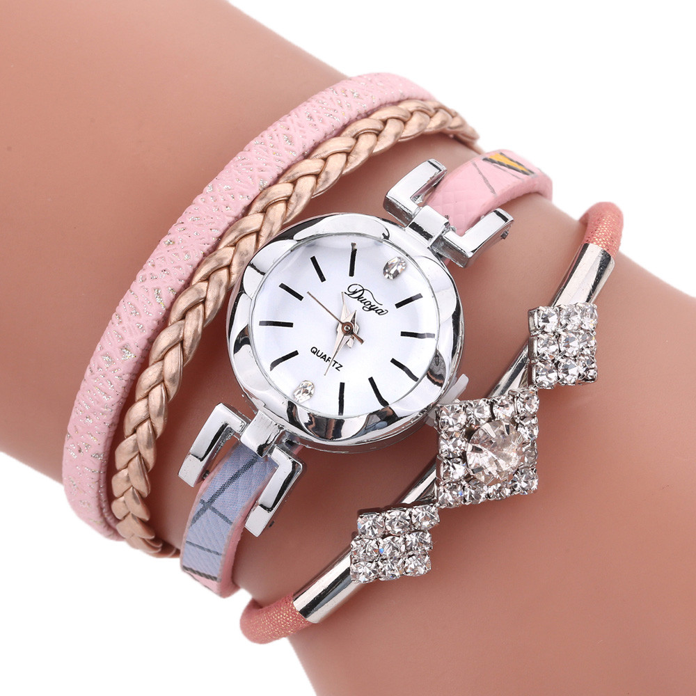 Relogio Feminino Montre Femme Duoya Fashion Women Girls Ladies Fashion Jewelry Watches Bracelet Wristband New