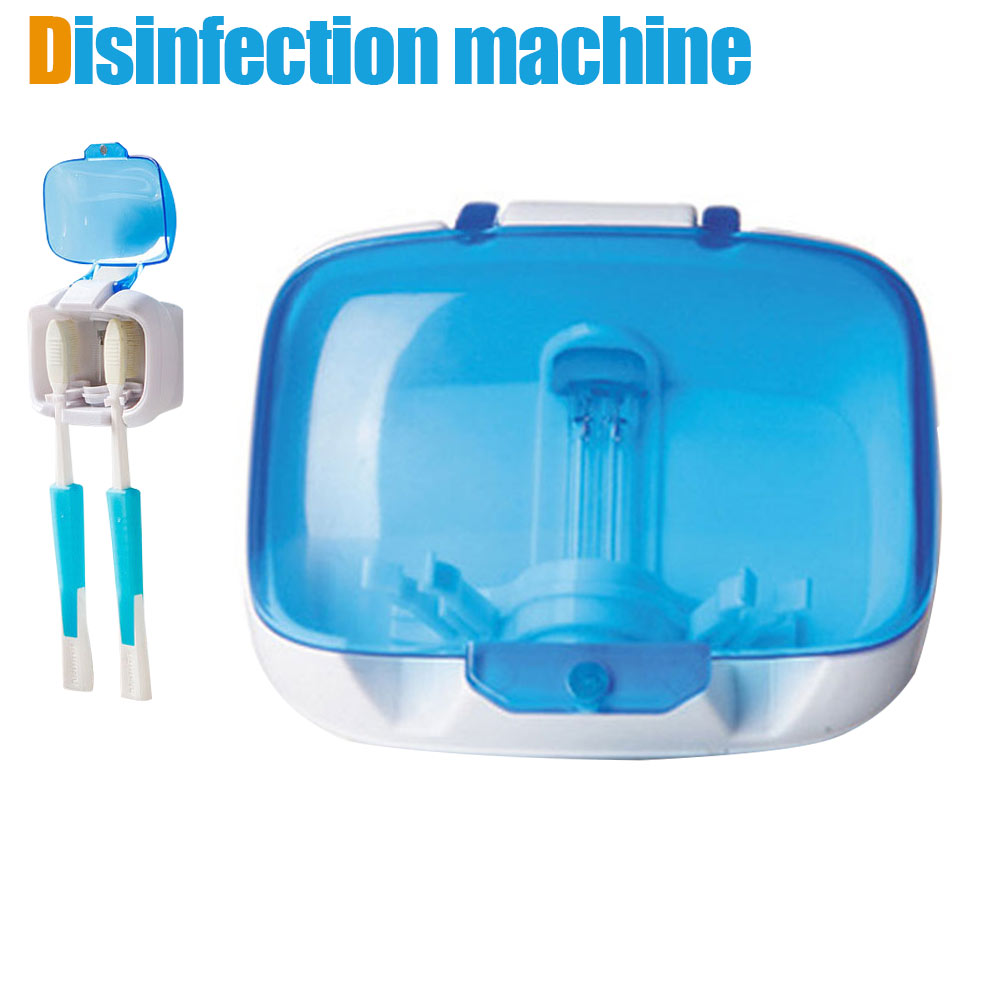 Lovers Couple Toothbrush Sterilizer Box Dental Care Wall Mounted Tooth Brush Holder UV Sanitizer Storage Case 789(China)