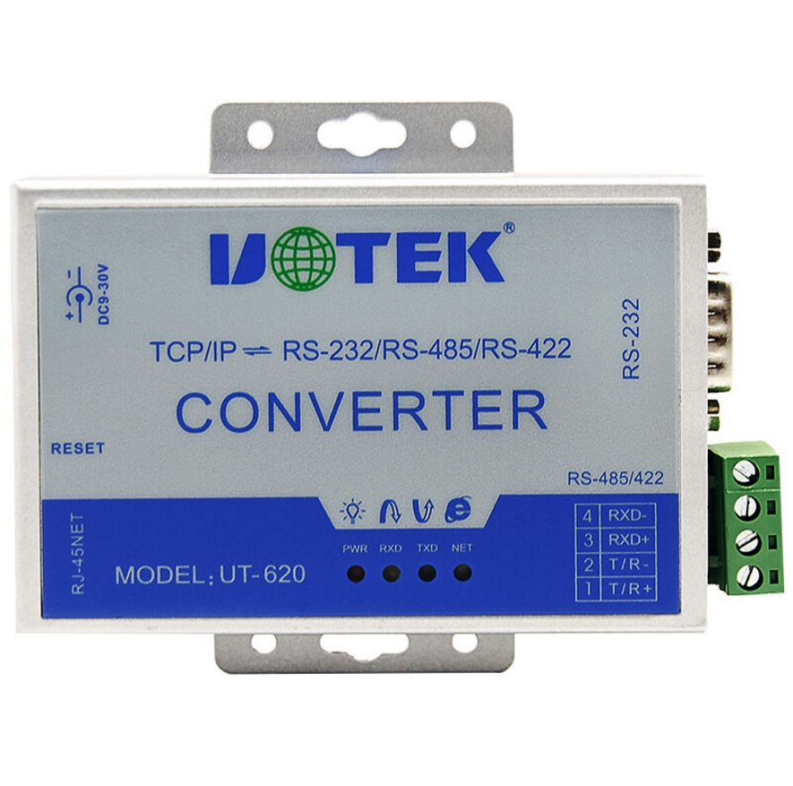 UT-620 TCP/IP to 232/422/485 serial port to network communication serial communication server RJ45 TO RS232/RS485/RS422 active