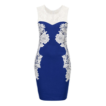 2017 New Fashion Hot Sale Women Dress lace sleeveless Party Bodycon Tropical Floral Print summer Dress Desigual vestido 125
