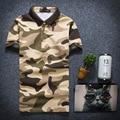Hot Sale 2016 New Fashion Mens Polo Shirts High quality military camouflage man shirt Slim Fit Short Sleeve Men Clothing M-3XL