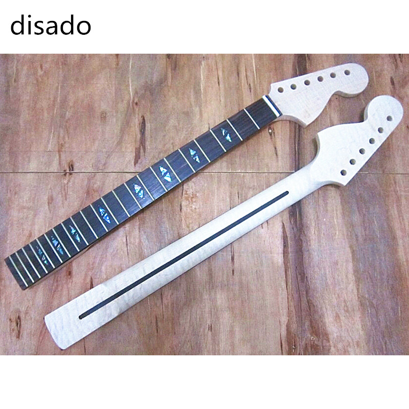 disado 22 Frets Tiger flame material maple Electric Guitar Neck Wholesale Guitar accessories parts musical instruments disado 21 frets tiger flame maple wood color electric guitar neck guitar parts guitarra musical instruments accessories