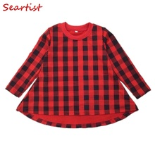 SeartistBaby Girl Christmas Dress Bebes Red Plaid Dresses Girls A-Line Baby Clothes Outfit 2-10Years  38