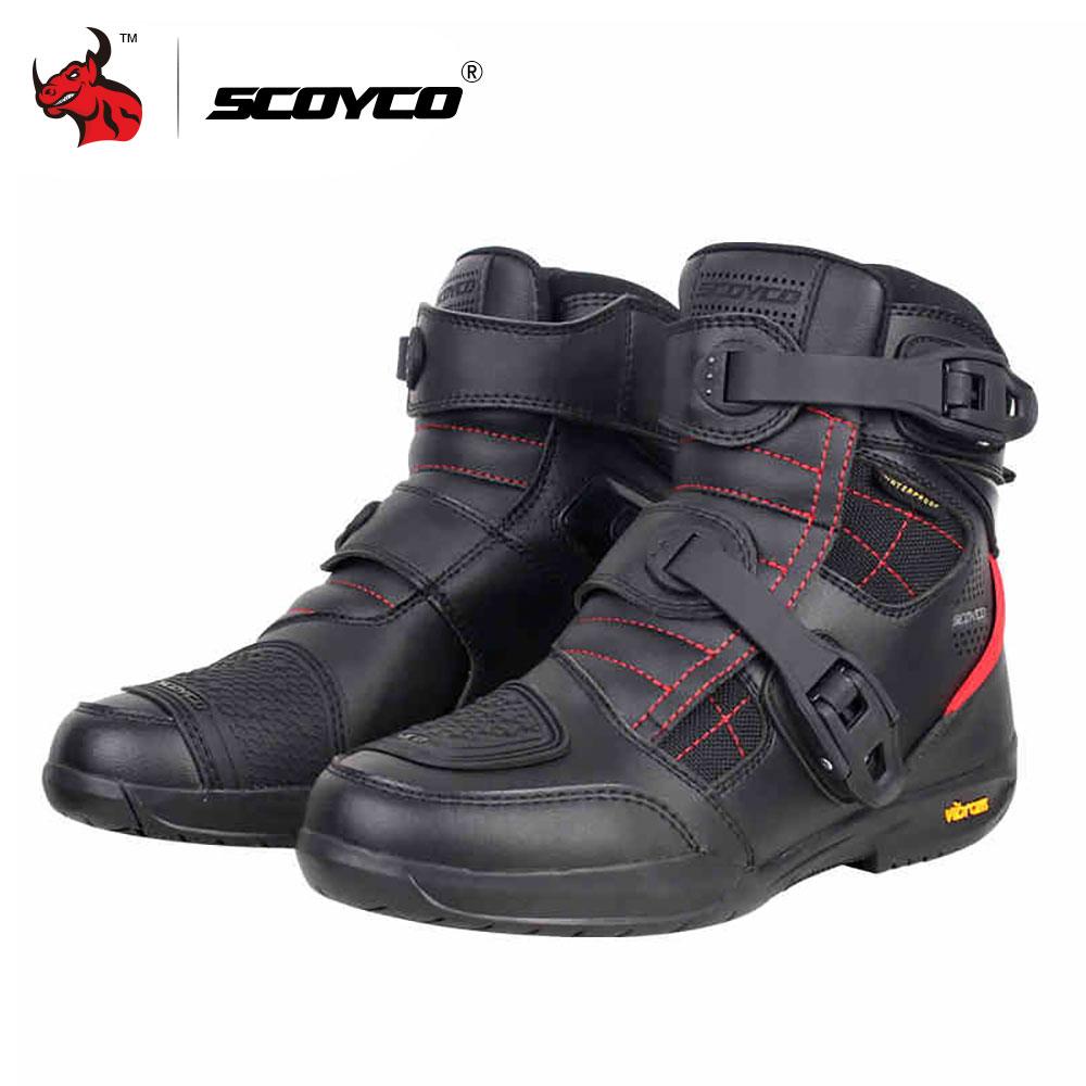 Scoyco Motorrad Stiefel Wasserdicht Leder Moto Stiefel Männer Motocross Stiefel Motorrad Schutz Motorrad Lange Oberschenkel Stiefel # Um Jeden Preis Automobile & Motorräder