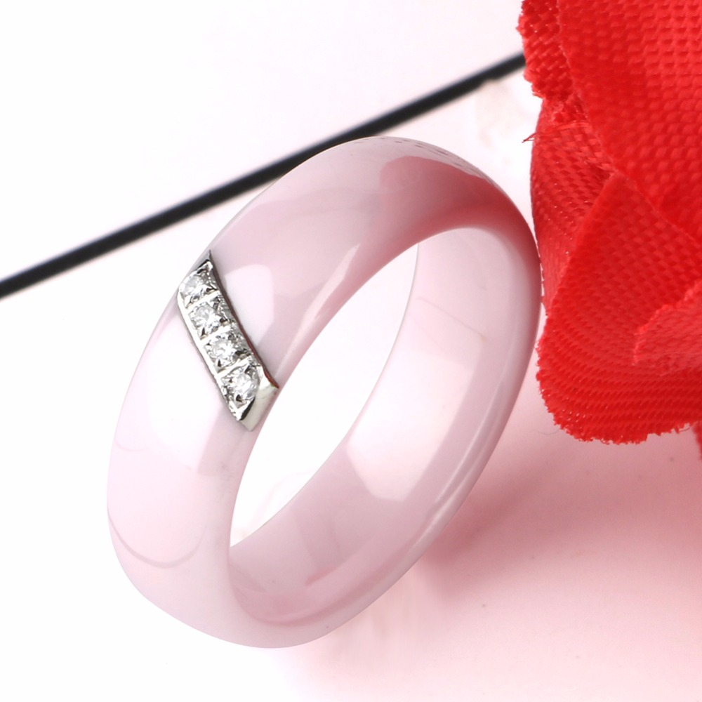 Aliexpress.com : Buy Fashion Pink Ceramic Rings For Women Smooth ...