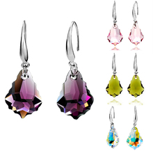 Fashion Fine Jewelry silver color drop Water droplets earrings long Dangles Plastic and glass Earrings For Women charm Brincos