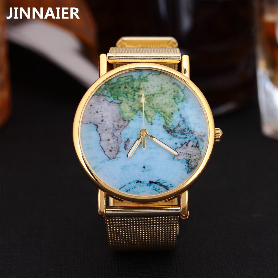 Top luxury brand watches men stainless steel gold mesh band quartz watch women wristwatch for ladies clock world map watch feitong luxury brand watches for women ladies watch full stainless steel gold mesh band wristwatch wristwatch relogio feminino