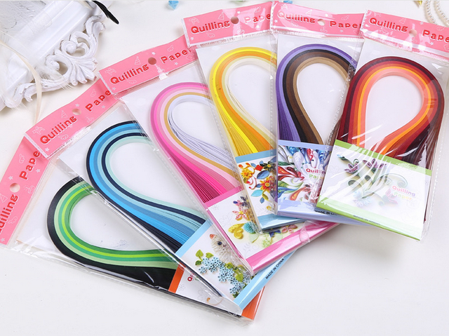 Lovely 120 Strips 6 Colors Mixed 3mm Handcraft Origami Paper Quilling Paper Handmade Cards Flower Paper Crafts DIY Home Decor