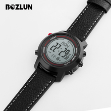 Bozlun Sport Watch Men Digital Wristwatches Mountain Altitude Pressure Countdown Compass Waterproof Relogio Masculino MG03