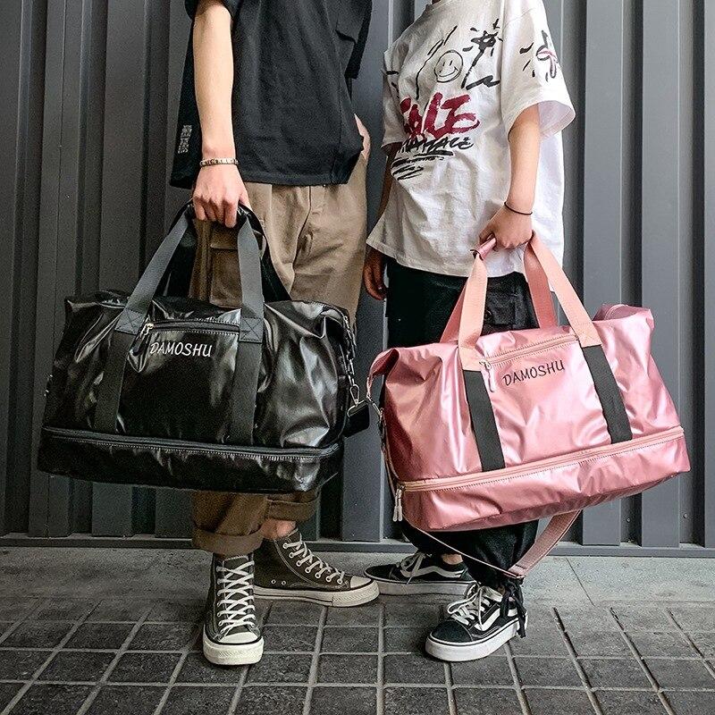 @1  Большая вместимость Практическая сумка для путешествий на короткие расстояния Унисекс Спортивная сум ①