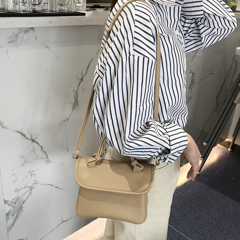 Women's Bags Luggage & Bags 2018 New Fashion Simple Solid Color Pu Crossbody Bag Retro Style Wild Casual Handbag Small Square Bag.
