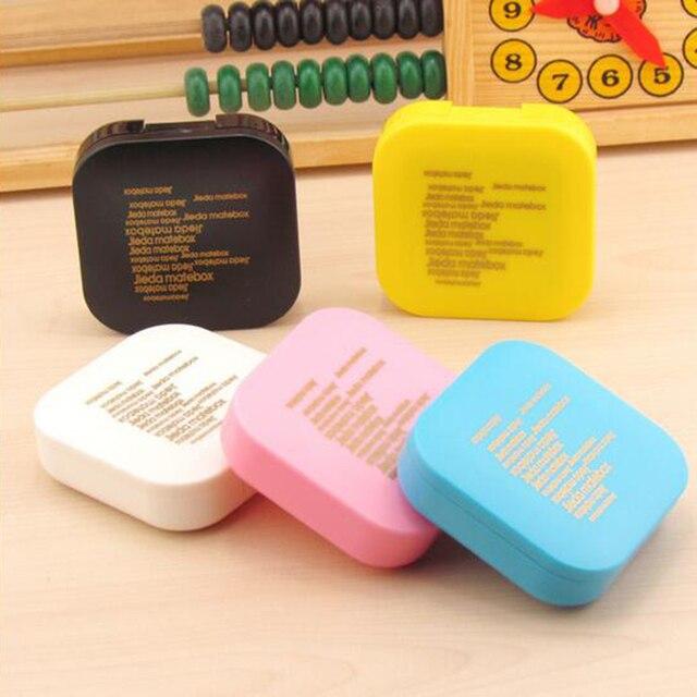 Площади Контактные Линзы Пластиковые Письмо Контактные Линзы Коробка Зеркало Случайный Цвет