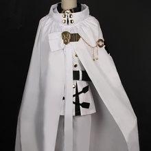 Fantasia japonesa de cosplay seraph do final, anime owari no seraph mikaela hyzukya, conjunto completo de peruca