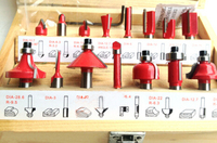 New 15pc Round Over Router Bit Woodworking Drill Tool 1 4 Inch 6 35mm Router Bits