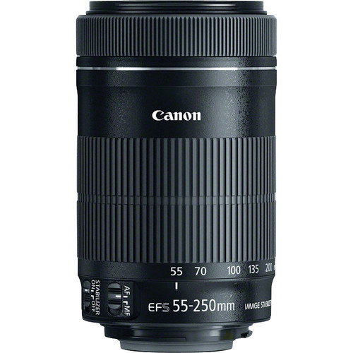 Canon EF-S 55-250mm f/4-5.6 IS STM Lens for Canon 600D 700D 750D 1200D 1300D T3i T6 T5i T5 60D 70D 80D Dslr Camera