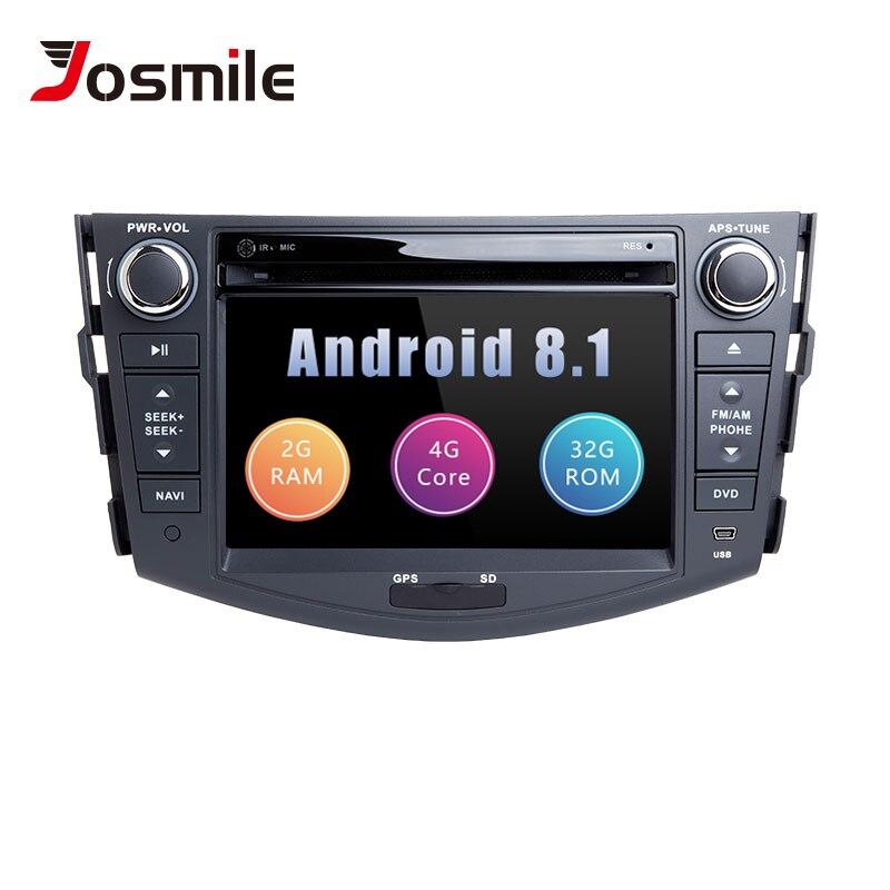 Android 8.1 2 din Car Radio Car DVD Player For Toyota RAV4 Rav 4 2006 2007 2008 2009 2010 2011 2012 GPS Navigation Wifi OBD2 TV
