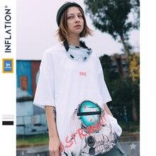 אינפלציה Streetwear חולצת טי Oversize קיץ למעלה טי גברים חולצת טי Harajuku 2020 קיץ בגדים עירוניים חולצות טי סקייטבורד 9126S