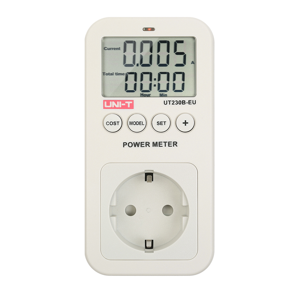 UNI T UT230B LCD wattmeter Energy Consumption Meter Voltage Current Cost Frequency Power Factor Monitor CO2