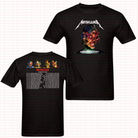 Heavy Metal Metallica 2017 2018 Rock T Shirt Hip Hop Cotton Short Sleeve Tshirt Punk Brand