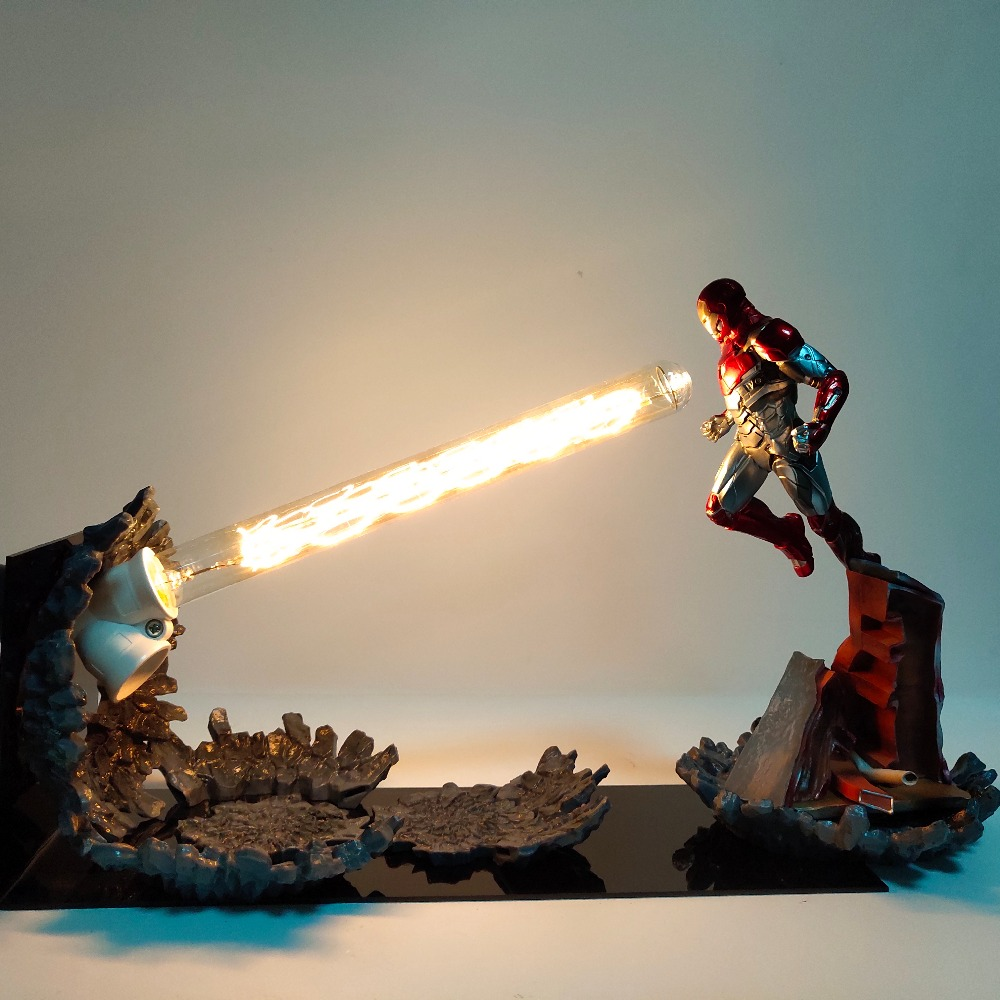Homem de ferro MK47 Canhão Laser DIODO EMISSOR de Luz Jogo Final do Filme Avengers Homem De Ferro Figuras de Ação Anime Brinquedo Estatueta Diorama Dropshipping
