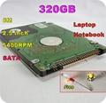 "2.5 ""hdd sata 320 gb 320g sata 5400 rpm 8 m disco duro interno del ordenador portátil notebook ps3 xbox 360 notebook destornillador libre"