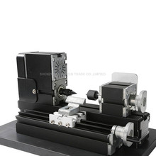 Mini Lathe Machine 12000r/min 110V-240V saw Workbench area 90*90mm Mini Combined Machine Tool metal plate